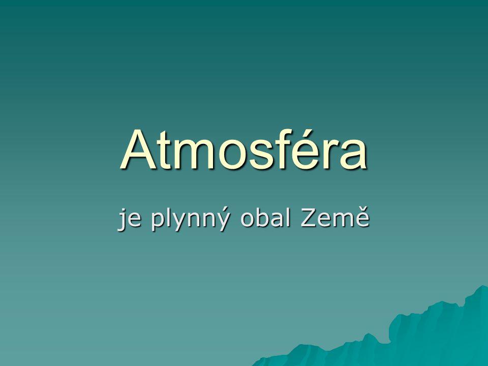 Atmosféra je plynný obal Země