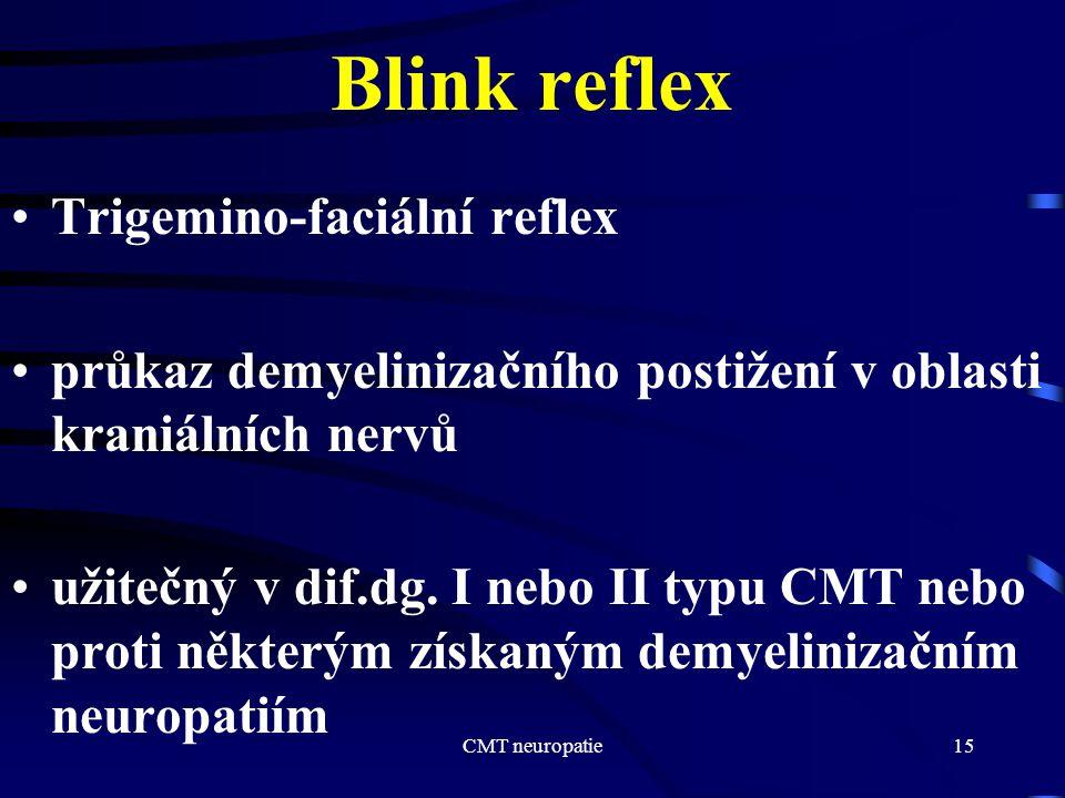 Blink reflex Trigemino-faciální reflex