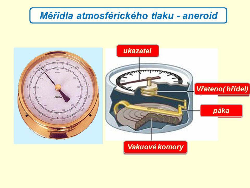 Měřidla atmosférického tlaku - aneroid