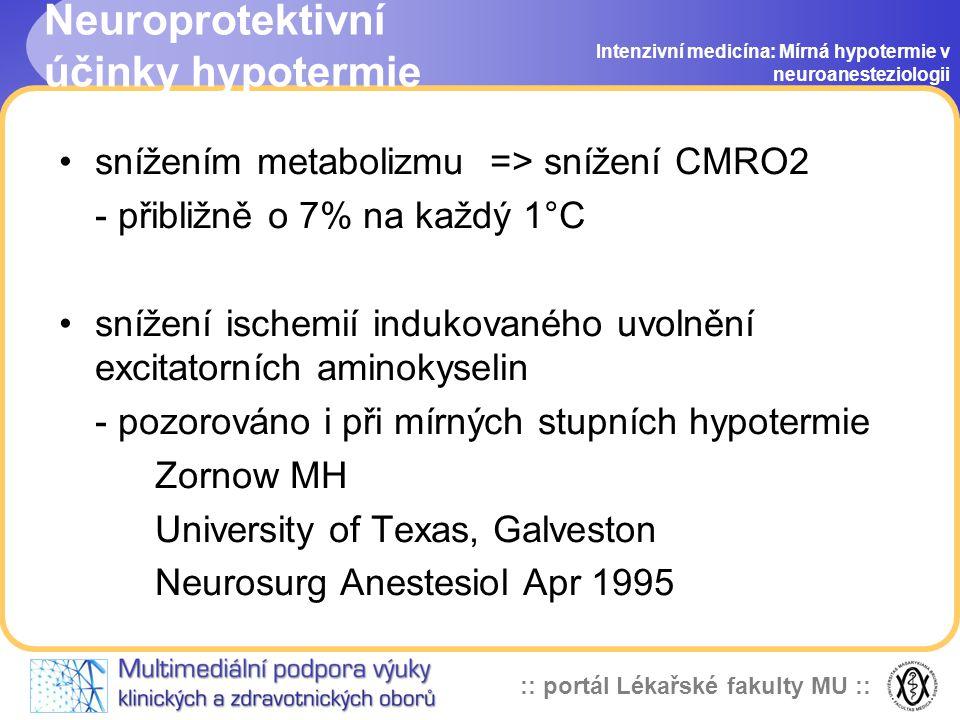 Neuroprotektivní účinky hypotermie