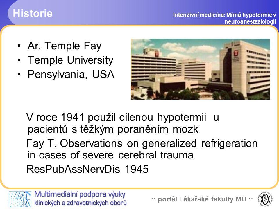 Historie Ar. Temple Fay Temple University Pensylvania, USA