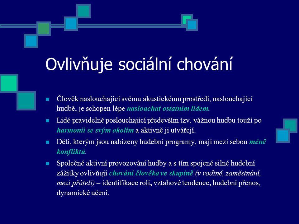 Ovlivňuje sociální chování