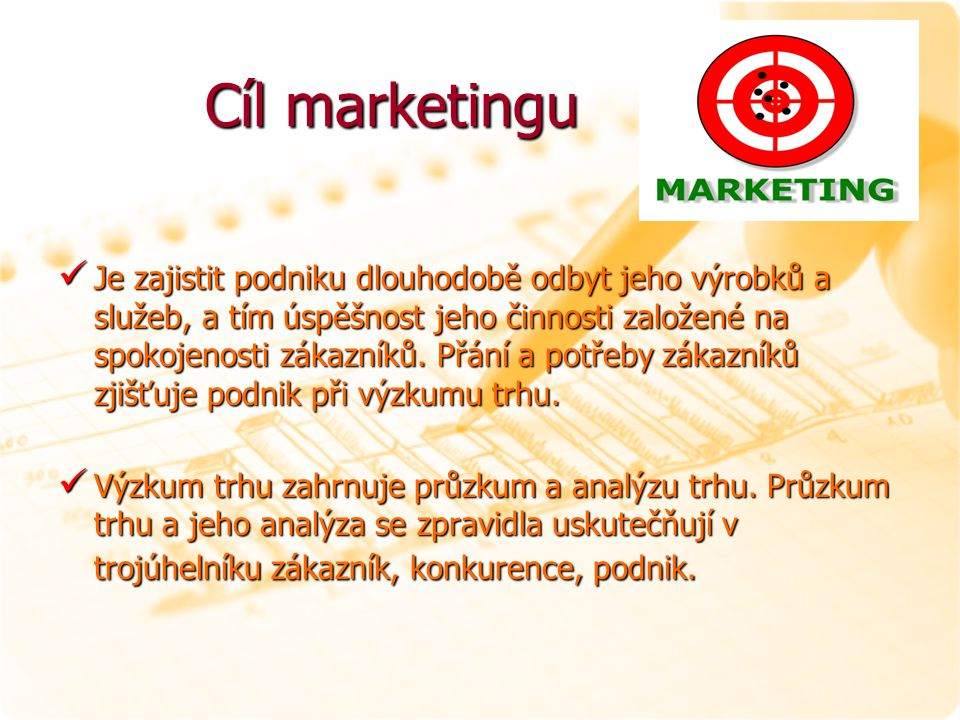 Cíl marketingu