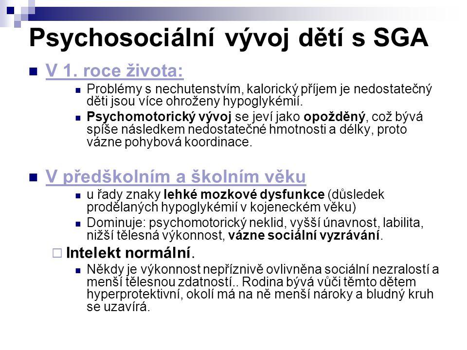 Psychosociální vývoj dětí s SGA