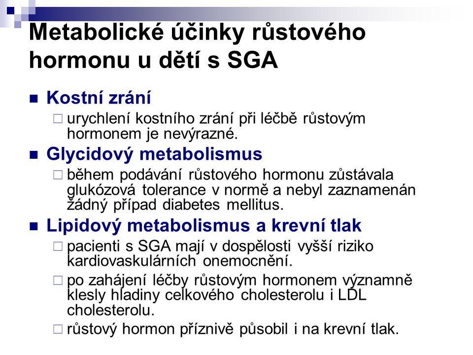 Metabolické účinky růstového hormonu u dětí s SGA