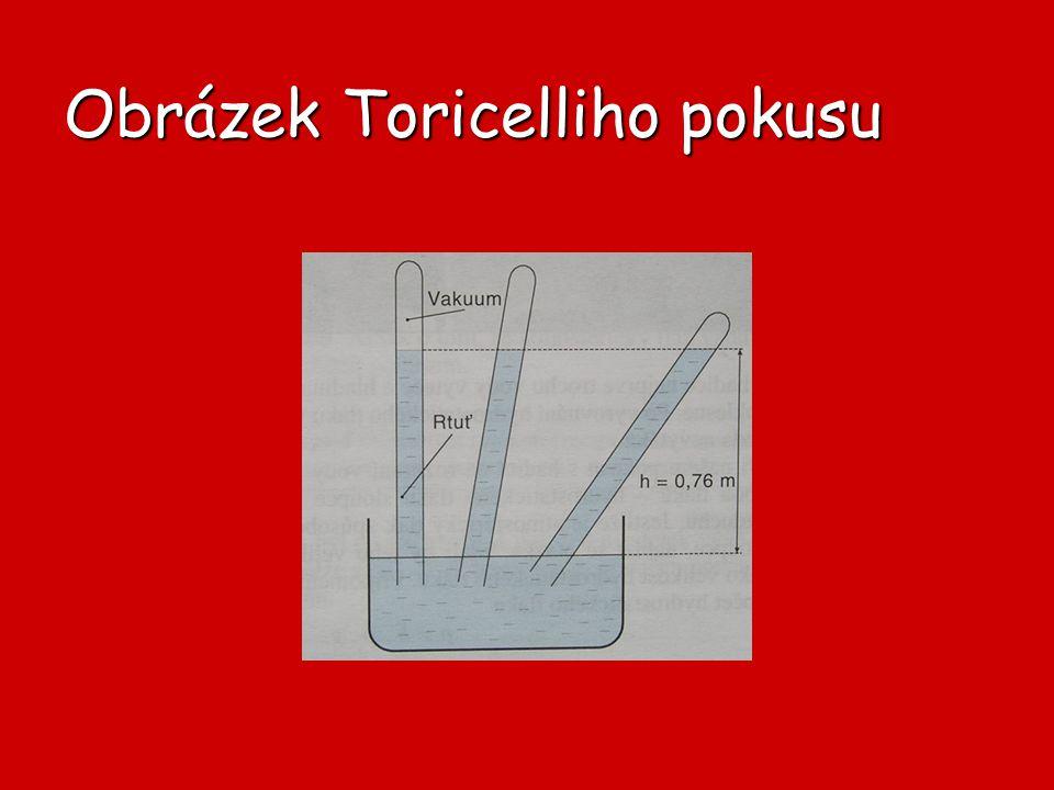 Obrázek Toricelliho pokusu