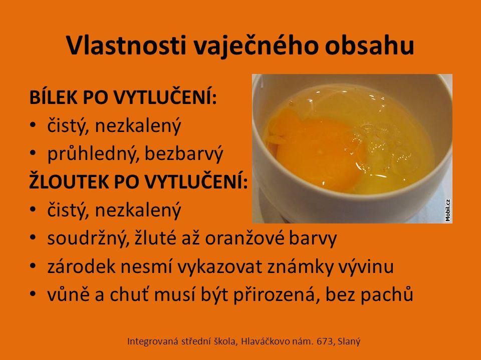 Vlastnosti vaječného obsahu