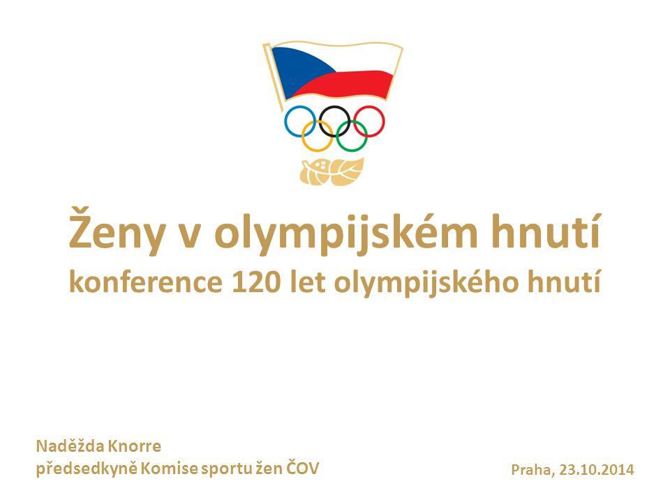 Ženy v olympijském hnutí konference 120 let olympijského hnutí