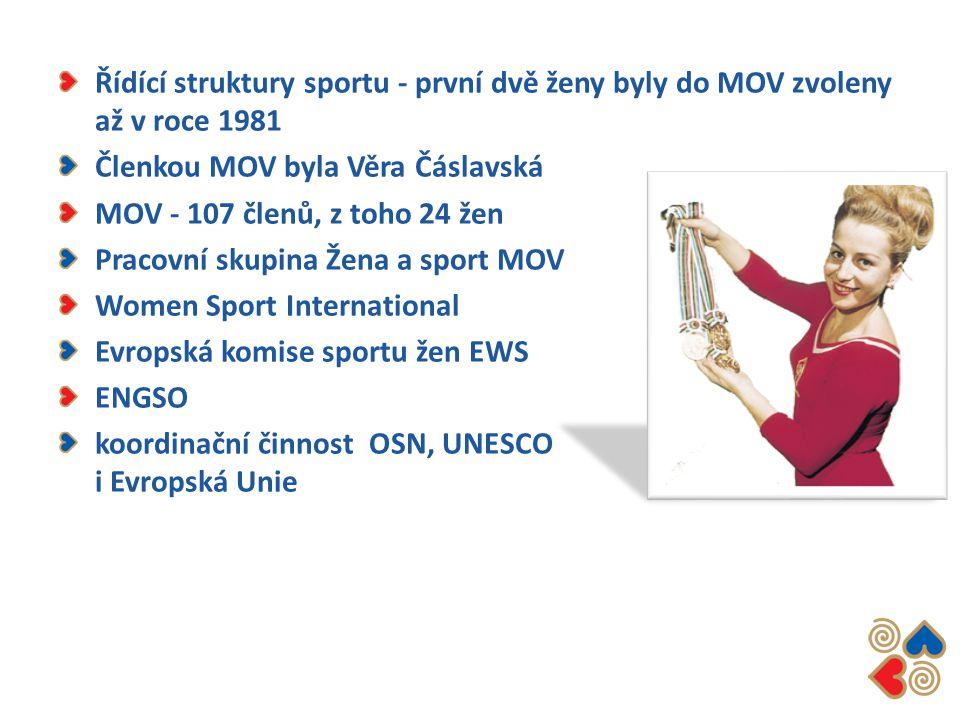 Řídící struktury sportu - první dvě ženy byly do MOV zvoleny až v roce 1981