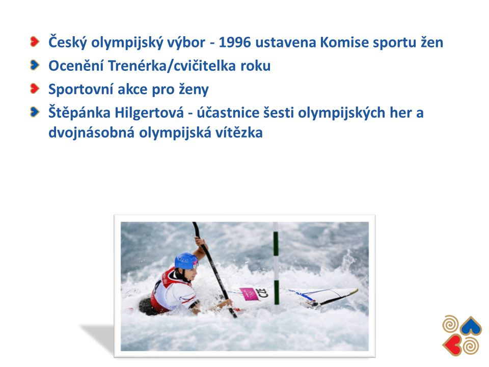 Český olympijský výbor - 1996 ustavena Komise sportu žen