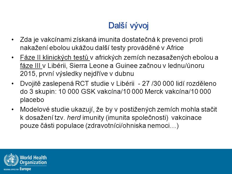 Další vývoj Zda je vakcínami získaná imunita dostatečná k prevenci proti nakažení ebolou ukážou další testy prováděné v Africe.