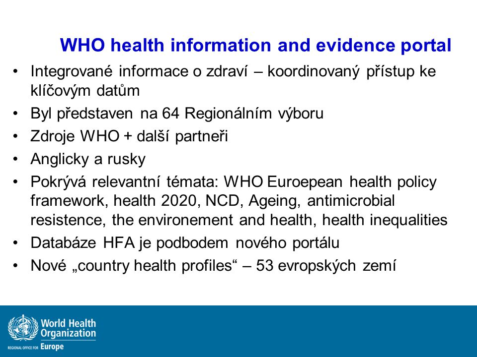 WHO health information and evidence portal