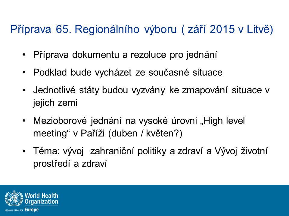 Příprava 65. Regionálního výboru ( září 2015 v Litvě)