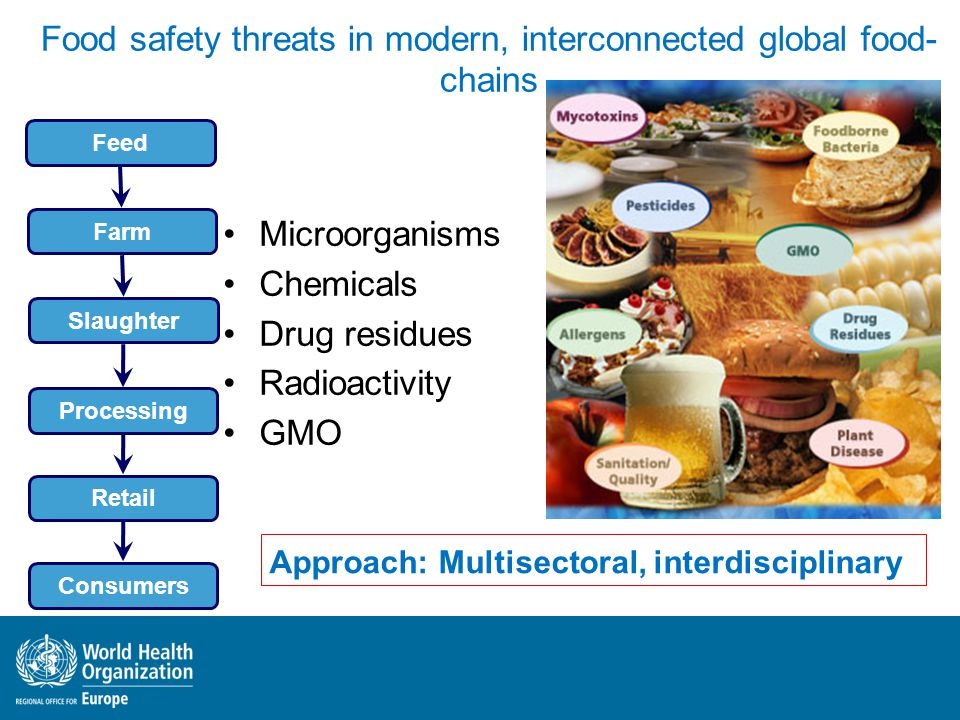 Food safety threats in modern, interconnected global food-chains