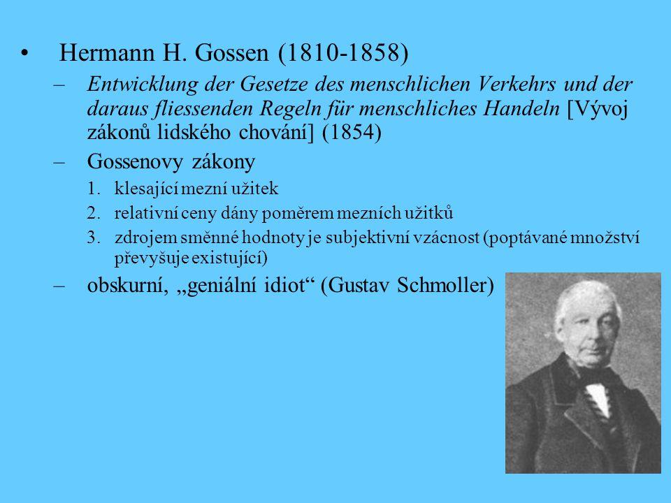 Hermann H. Gossen (1810-1858)