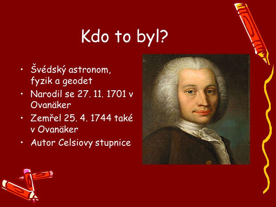 Kdo to byl Švédský astronom, fyzik a geodet