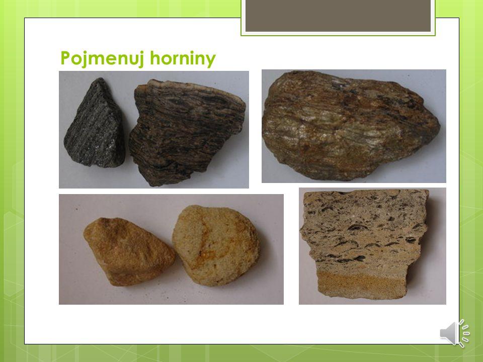 Pojmenuj horniny