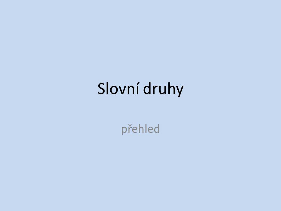 Slovní druhy přehled