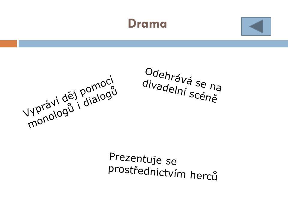 Drama Odehrává se na divadelní scéně