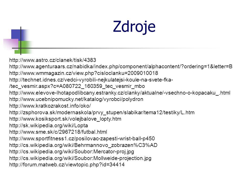 Zdroje http://www.astro.cz/clanek/tisk/4383