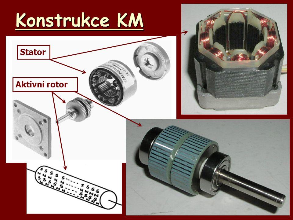 Konstrukce KM Stator Aktivní rotor