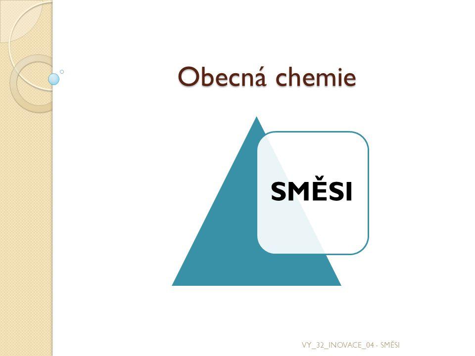 Obecná chemie SMĚSI VY_32_INOVACE_04 - SMĚSI