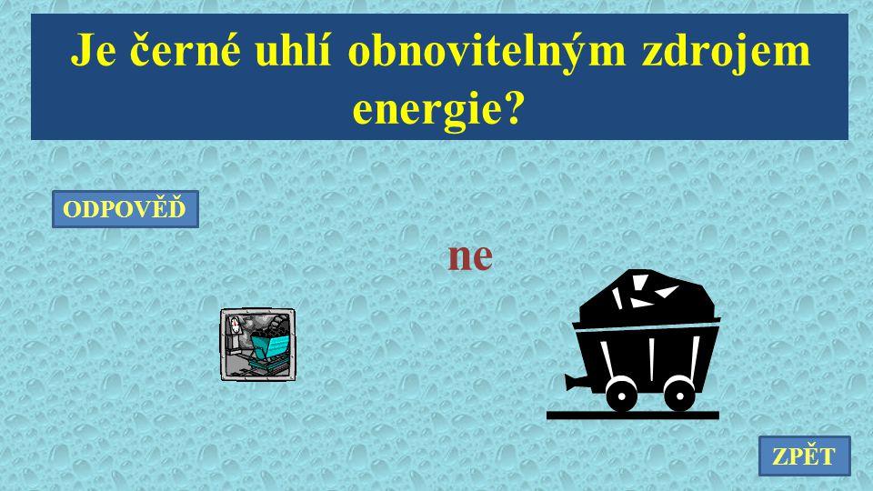 Je černé uhlí obnovitelným zdrojem energie
