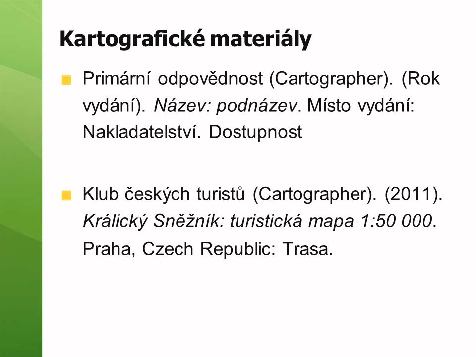 Kartografické materiály