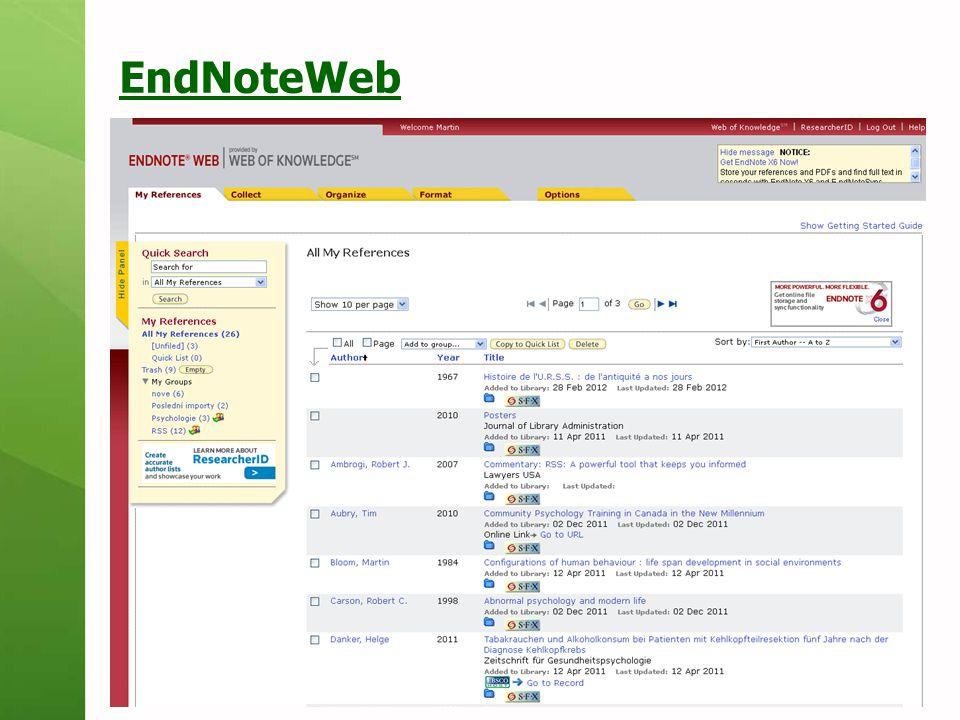 EndNoteWeb