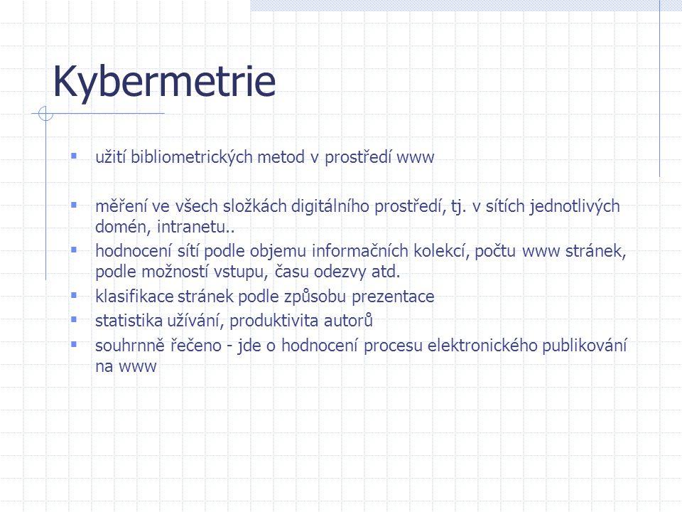 Kybermetrie užití bibliometrických metod v prostředí www