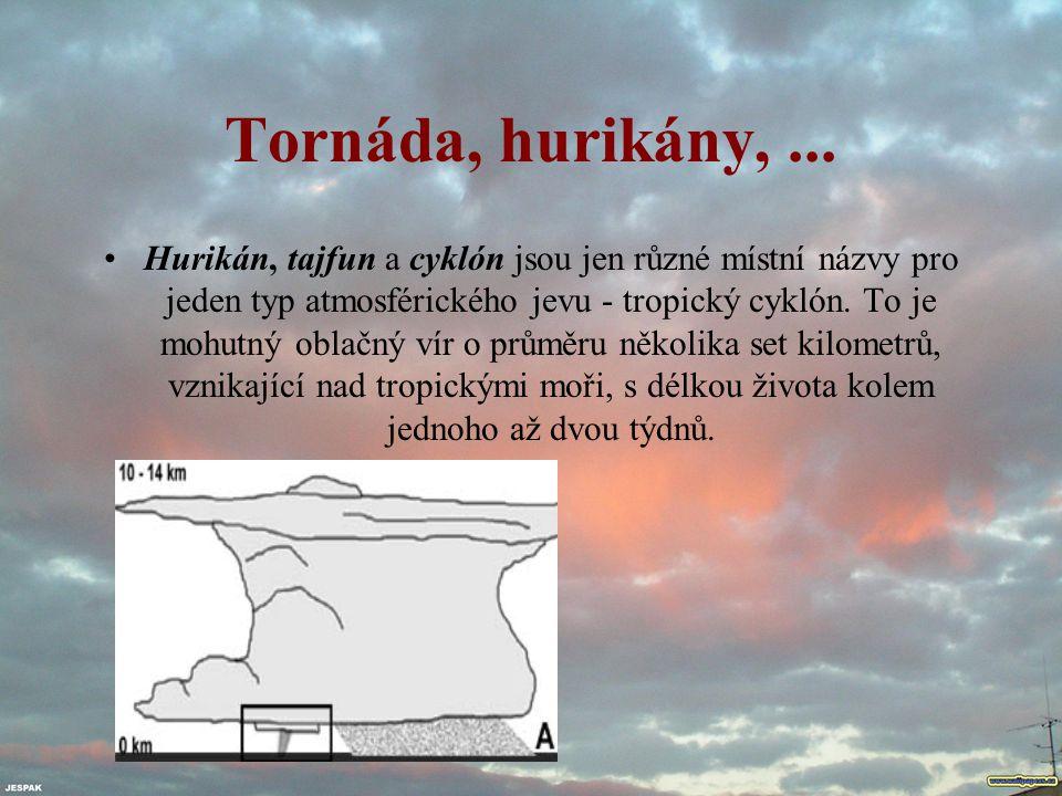 Tornáda, hurikány, ...