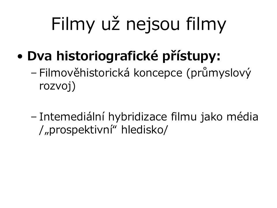 Filmy už nejsou filmy Dva historiografické přístupy: