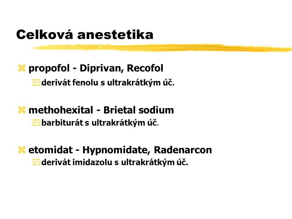 Celková anestetika propofol - Diprivan, Recofol