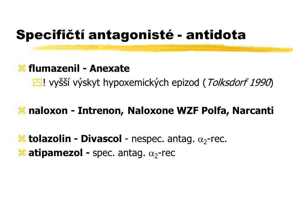 Specifičtí antagonisté - antidota