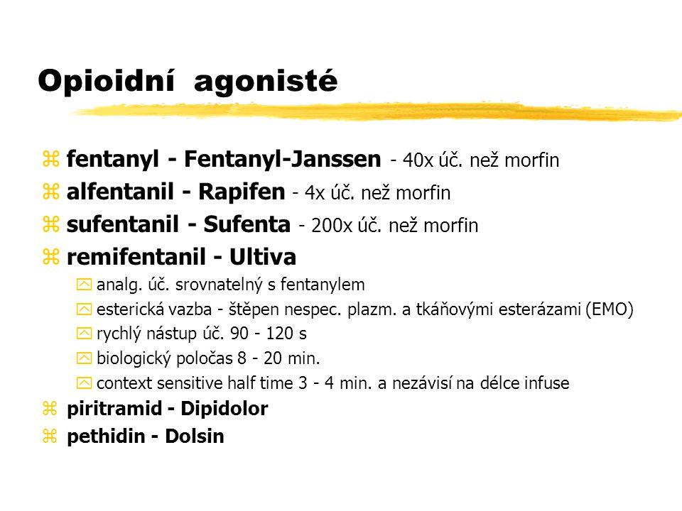 Opioidní agonisté fentanyl - Fentanyl-Janssen - 40x úč. než morfin