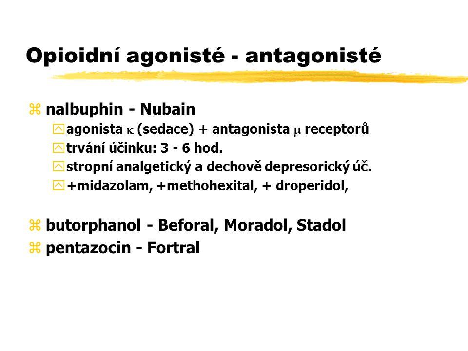 Opioidní agonisté - antagonisté
