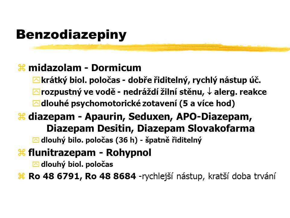 Benzodiazepiny midazolam - Dormicum