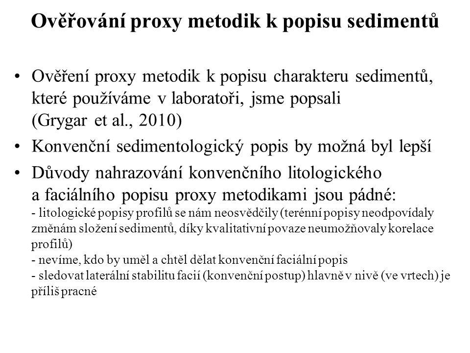 Ověřování proxy metodik k popisu sedimentů