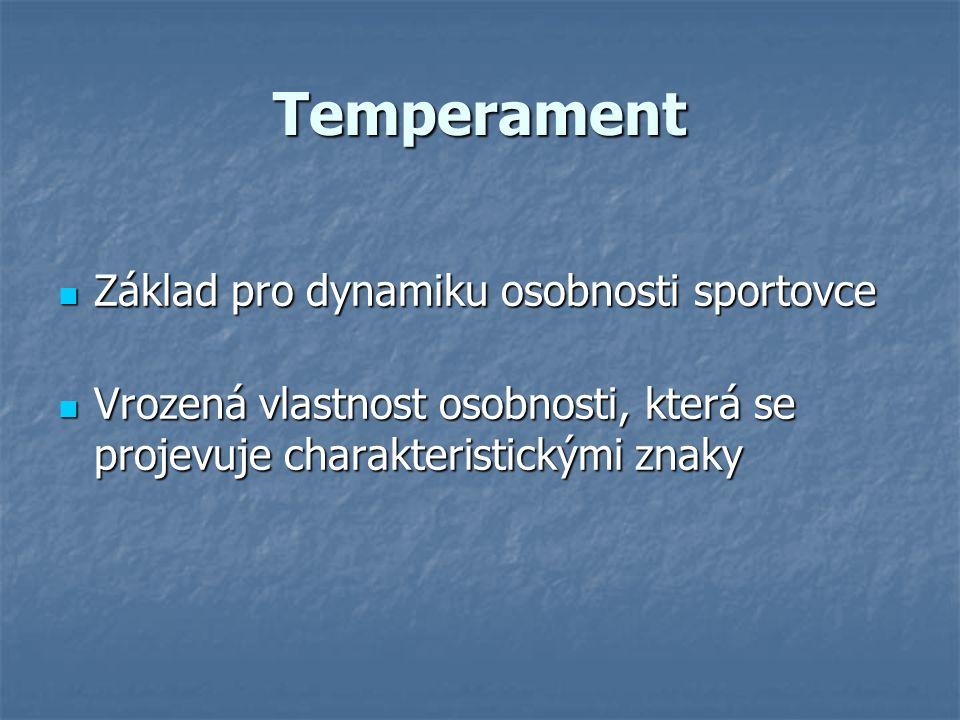 Temperament Základ pro dynamiku osobnosti sportovce