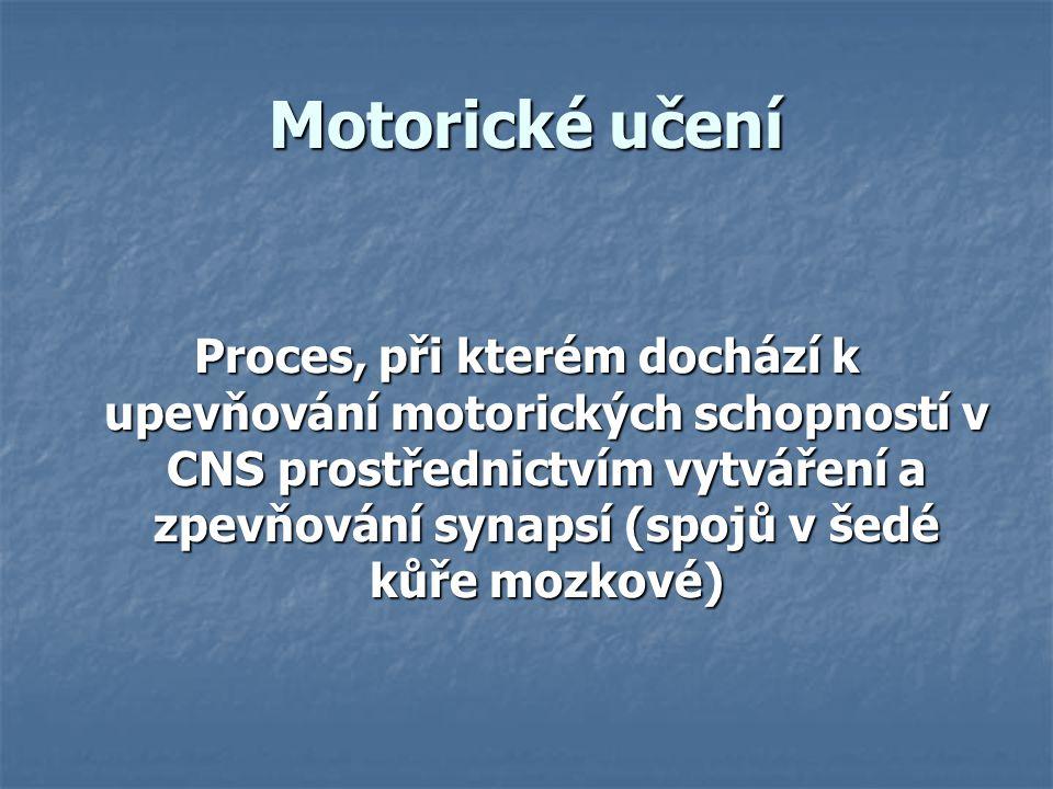 Motorické učení