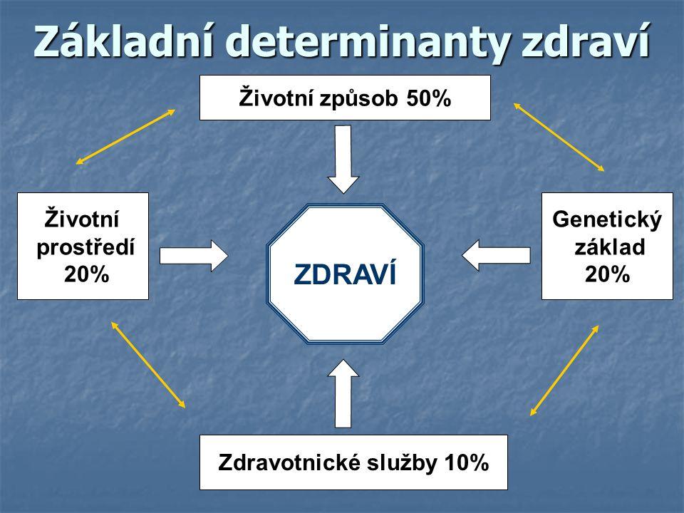 Základní determinanty zdraví