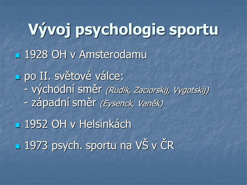 Vývoj psychologie sportu