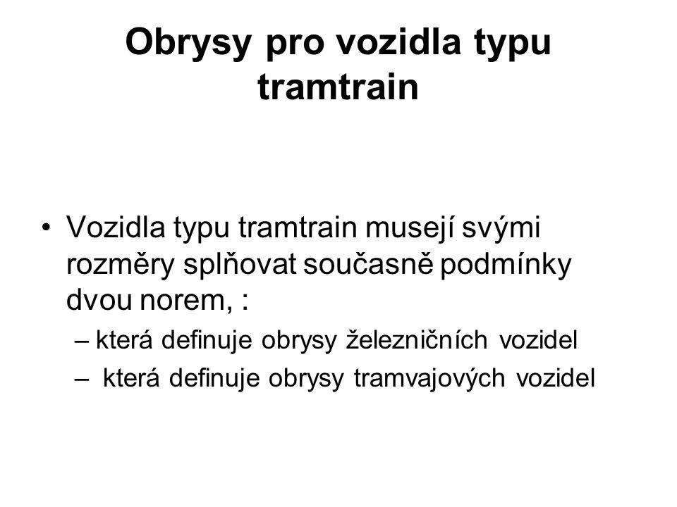 Obrysy pro vozidla typu tramtrain