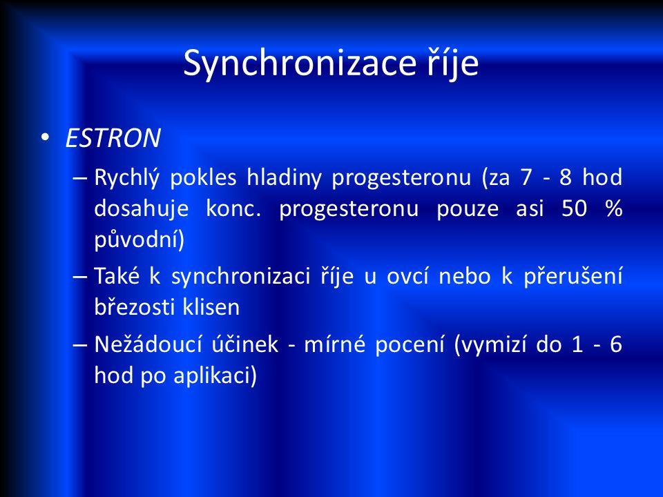 Synchronizace říje ESTRON