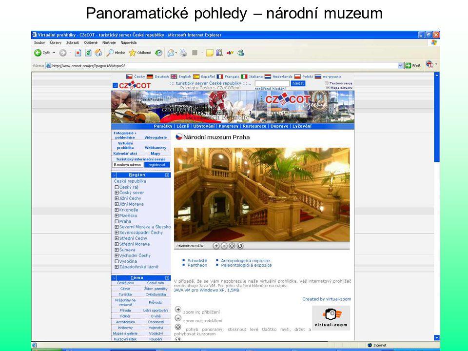 Panoramatické pohledy – národní muzeum