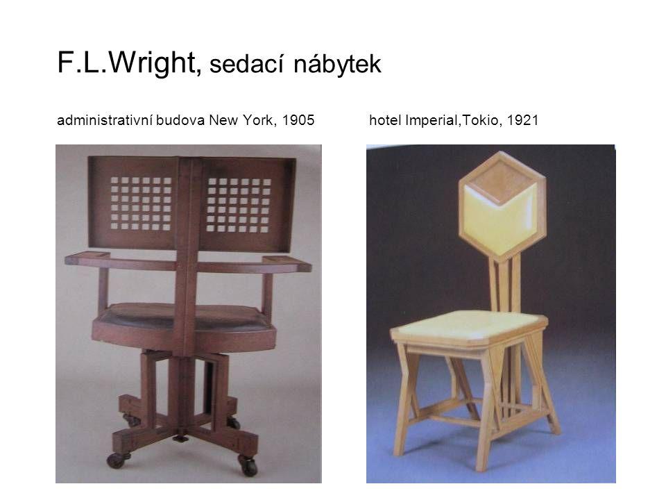 F. L. Wright, sedací nábytek administrativní budova New York, 1905