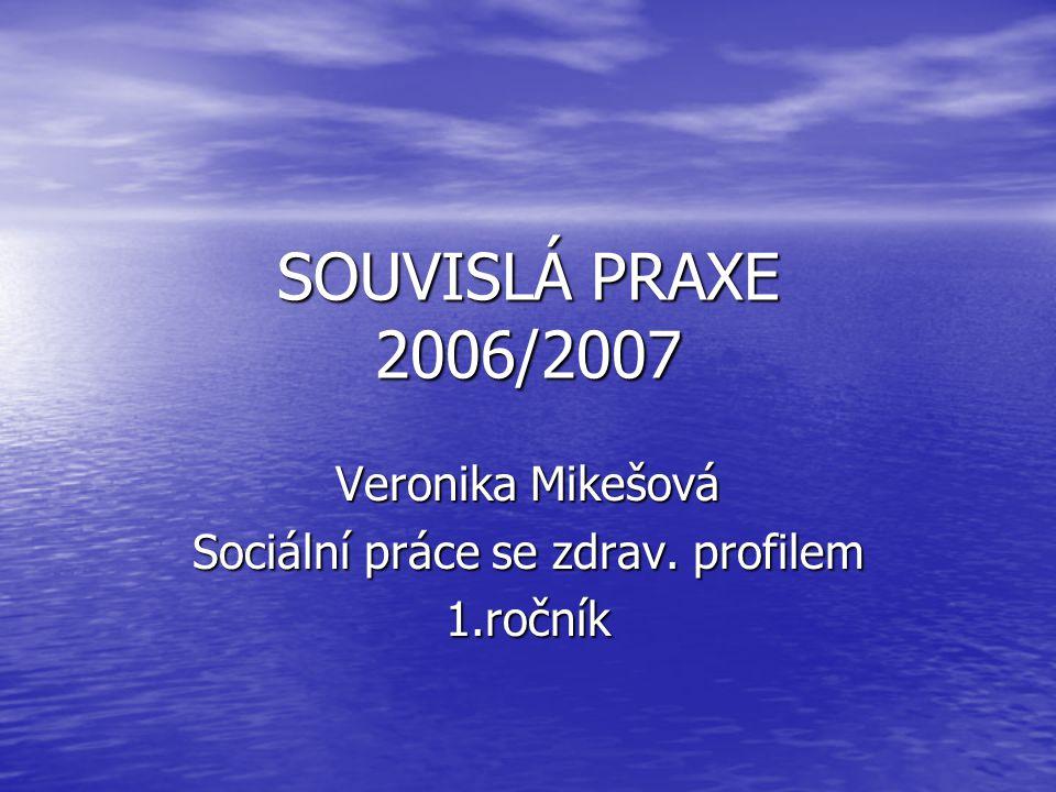 Veronika Mikešová Sociální práce se zdrav. profilem 1.ročník