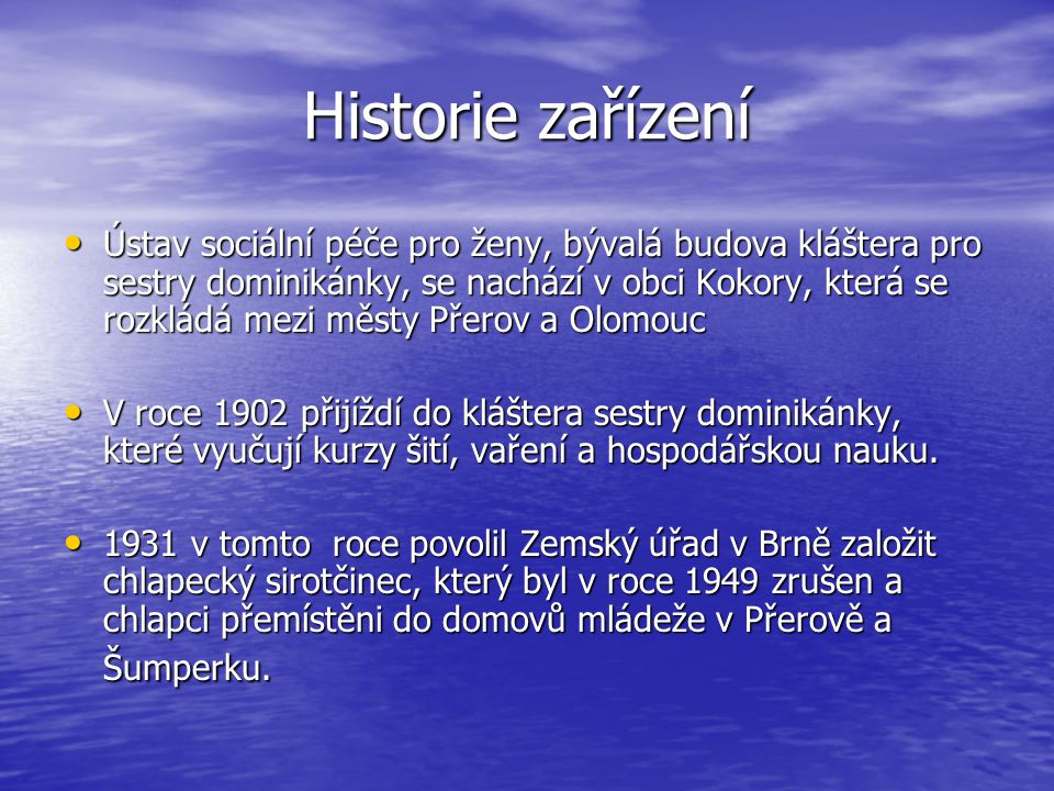 Historie zařízení