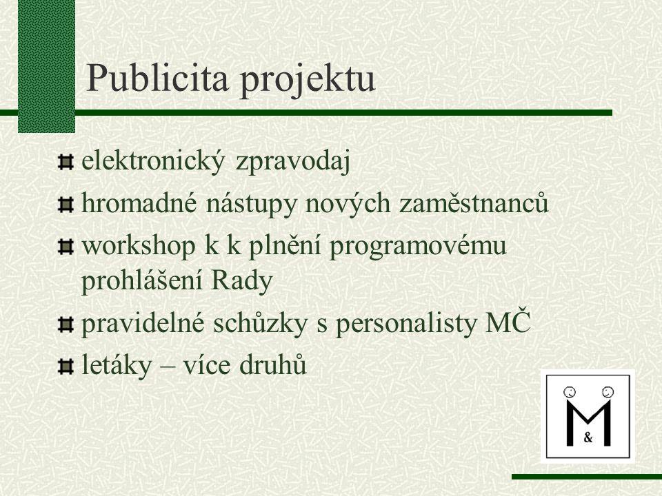 Publicita projektu elektronický zpravodaj