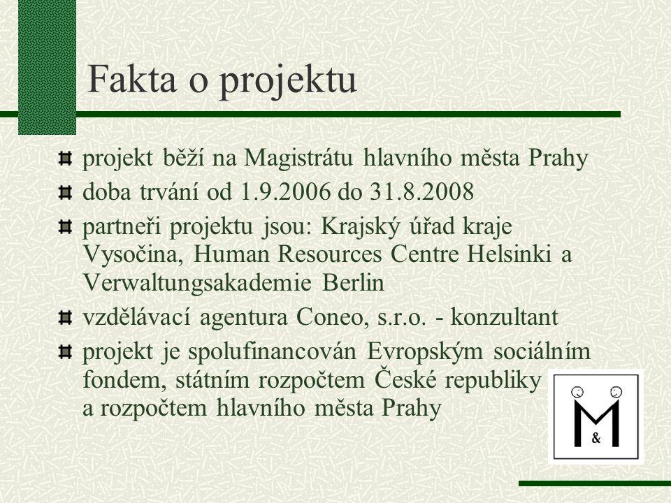 Fakta o projektu projekt běží na Magistrátu hlavního města Prahy
